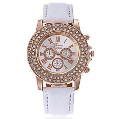 preiswerte Damenuhren-Damen Armbanduhr Chinesisch Großes Ziffernblatt Leder Band Freizeit / Modisch / Minimalistisch Schwarz / Weiß / Blau / Ein Jahr / SSUO CR2025