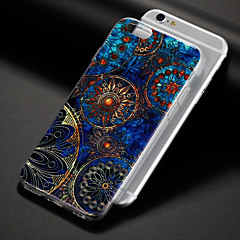 billige iPhone 6 Plus Plus-etuier-Etui Til Apple iPhone 8 iPhone 8 Plus Mønster Bagcover Mandala-mønster Blødt TPU for iPhone 8 Plus iPhone 8 iPhone 7 Plus iPhone 7 iPhone