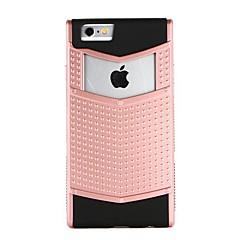 Недорогие Кейсы для iPhone-Кейс для Назначение Apple iPhone 6 iPhone 7 Защита от удара Рельефный Кейс на заднюю панель Геометрический рисунок Панк Твердый ПК для