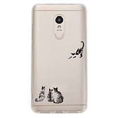 halpa Xiaomi kotelot / kuoret-Etui Käyttötarkoitus Xiaomi Redmi Note 4X Redmi Note 4 Kuvio Takakuori Kissa Pehmeä TPU varten Xiaomi Redmi Note 4X Xiaomi Redmi Note 4