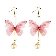 preiswerte Ohrringe-Damen Tropfen-Ohrringe - Schmetterling Koreanisch, Süß Hellblau / Leicht Rosa Für Alltag