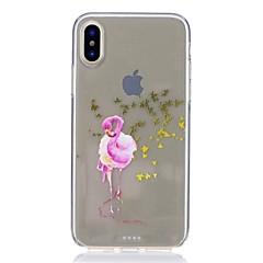 abordables Ahorros Sugerentes-Funda Para Apple iPhone X / iPhone 8 Antigolpes / Ultrafina / Diseños Funda Trasera Flamenco Suave TPU para iPhone 8 Plus / iPhone 8 / iPhone SE / 5s