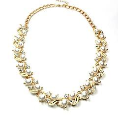 preiswerte Halsketten-Damen Synthetischer Diamant Anhängerketten - Klassisch, Modisch Gold Modische Halsketten Für Alltag, Formal