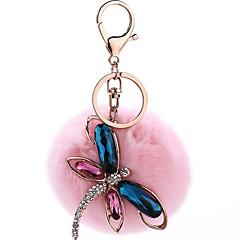 abordables Bijoux pour Femme-Libellule Porte-clés Rose dragée clair / Bleu royal Cristal, Alliage Doux Pour Quotidien
