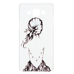 olcso Galaxy A7 tokok-Case Kompatibilitás Samsung Galaxy A5(2016) A3(2016) Strassz Dombornyomott Minta Hátlap Szó / bölcselet Szexi lány Rajzfilm Kemény PC mert