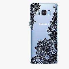 olcso Galaxy S6 tokok-Case Kompatibilitás Samsung Galaxy S8 Plus S8 Minta Fekete tok csipke nyomtatás Puha TPU mert S8 Plus S8 S7 edge S7 S6 edge plus S6 edge