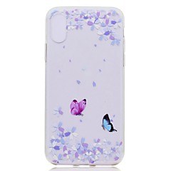 tanie Etui do iPhone 5-Kılıf Na Apple iPhone X iPhone 8 Plus Przezroczyste Wzór Czarne etui Motyl Miękkie TPU na iPhone X iPhone 8 Plus iPhone 8 iPhone 7 Plus