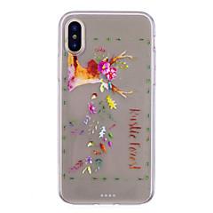 abordables Fundas para iPhone 6s-Funda Para Apple iPhone X iPhone 8 IMD Transparente Diseños Cubierta Trasera Animal Suave TPU para iPhone X iPhone 8 Plus iPhone 8 iPhone