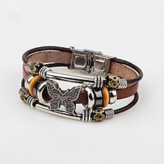 Недорогие Браслеты-Муж. Браслет цельное кольцо , Классика Мода Кожа Сплав В форме банта Бижутерия Повседневные