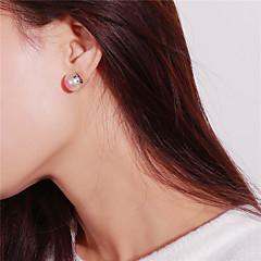 preiswerte Ohrringe-Damen Ohrstecker - Künstliche Perle Modisch Weiß Für Schultaschen / Ausgehen