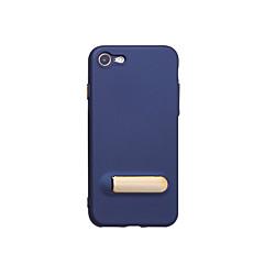 Недорогие Кейсы для iPhone-Кейс для Назначение Apple iPhone 7 Plus iPhone 7 со стендом Кейс на заднюю панель Сплошной цвет Мягкий ТПУ для iPhone 8 Pluss iPhone 8