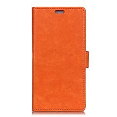 olcso Xiaomi tokok-Case Kompatibilitás Xiaomi Mi 5s Plus Mi 5s Pénztárca Kártyatartó Flip Teljes védelem Tömör szín Kemény Műbőr Bőr mert Redmi Note 5A