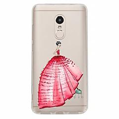 Недорогие Чехлы и кейсы для Xiaomi-Кейс для Назначение Xiaomi Redmi Note 4X Redmi Note 4 С узором Кейс на заднюю панель Соблазнительная девушка Мягкий ТПУ для Xiaomi Redmi
