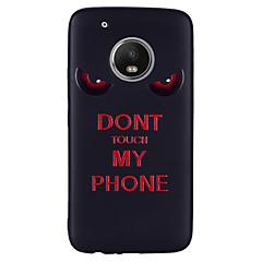 Недорогие Чехлы и кейсы для Motorola-Кейс для Назначение Motorola G5 Plus G5 С узором Кейс на заднюю панель Слова / выражения Мягкий Силикон для Мото G5 Plus Moto G5 Мото G4