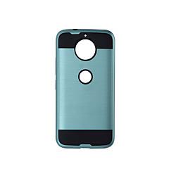 Недорогие Чехлы и кейсы для Motorola-Кейс для Назначение Motorola Защита от удара Чехол Сплошной цвет Твердый ТПУ для Moto G5s