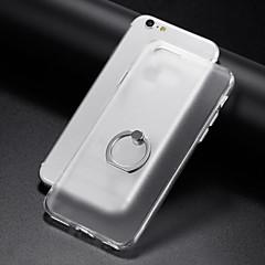 Voor iPhone 7 iPhone 7 Plus iPhone 6 Hoesje cover Ringhouder Transparant Achterkantje hoesje Effen Kleur Zacht TPU voor Apple iPhone 7s