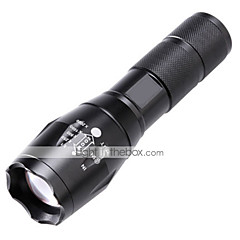 cheap -LED Flashlights / Torch LED 2000 lm 5 Mode Cree T6 Zoomable Adjustable Focus Impact Resistant Nonslip grip Rechargeable Waterproof Night