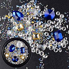 رخيصةأون -مجوهلرات الأظافر ملمع متعدد الألوان مجوهرات