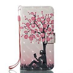 Недорогие Кейсы для iPhone-Кейс для Назначение Apple iPhone X iPhone 8 Бумажник для карт Кошелек со стендом Чехол дерево Твердый Кожа PU для iPhone X iPhone 8 Pluss