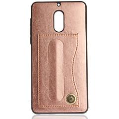 baratos -Capinha Para Nokia Nokia 6 Nokia 3 Porta-Cartão Com Suporte Côr Sólida Rígida para Nokia