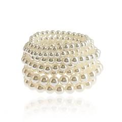 abordables Brazaletes-Mujer Pulseras del filamento Pulseras del abrigo Perla artificial Simple Vintage Perla Artificial Forma de Círculo Joyas Fiesta de baile
