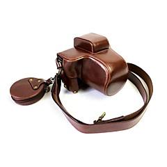 お買い得  ケース、バッグ & ストラップ-fujifilm x-e3 xe3 xf 23mmレンズ(盛り合わせ色)用dengpin puレザーカメラケースバッグカバー