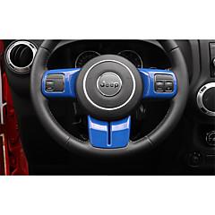 Недорогие Приборы для проекции на лобовое стекло-автомобильный Рамка для рулевого колеса Всё для оформления интерьера авто Назначение Jeep 2017 2016 2015 2014 2013 2012 2011 Wrangler