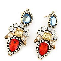 preiswerte Ohrringe-Damen Opal / Kristall Tropfen-Ohrringe - Opal, Diamantimitate Tropfen Modisch Rot / Leicht Rosa Für Abiball / Ausgehen