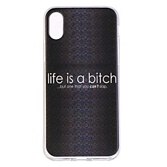 お買い得  iPhone 5S/SE ケース-ケース 用途 Apple iPhone X / iPhone 8 耐衝撃 / 超薄型 / パターン バックカバー ワード/文章 ソフト TPU のために iPhone X / iPhone 8 Plus / iPhone 8