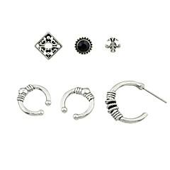 preiswerte Ohrringe-Damen Ohrstecker / Klips / Ohr-Stulpen - Grundlegend, Rockig Silber Für Alltag / Verabredung