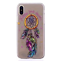 お買い得  iPhone 5S/SE ケース-ケース 用途 Apple iPhone X iPhone 8 耐衝撃 超薄型 パターン バックカバー ドリームキャッチャー ソフト TPU のために iPhone X iPhone 8 Plus iPhone 8 iPhone 7 Plus iPhone 7 iPhone