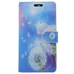 お買い得  Huawei Pシリーズケース/ カバー-ケース 用途 Huawei P9 カードホルダー ウォレット スタンド付き フリップ フラワー タンポポ ハード PUレザー のために Huawei