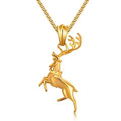 Недорогие Ожерелья-Муж. Ожерелья с подвесками - Мода Черный, Серебряный, Цвет радуги Ожерелье Назначение Повседневные