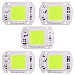 お買い得  LED-50ワットのLEDランプチップ50ワット緑の光220vドライバースマートICのdiyスポットライトの洪水ライト(5個)
