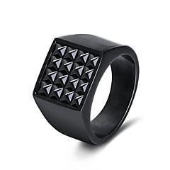 preiswerte Ringe-Herrn Damen Bandringe Freizeit Cool Edelstahl Geometrische Form Schmuck Geschenk Karnival