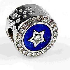 billige Perler- og smykkedesign-DIY Smykker 1 Stk. Perler Simuleret diamant Legering Marineblå Rund bead 0.5 cm gør det selv Halskæder Armbånd