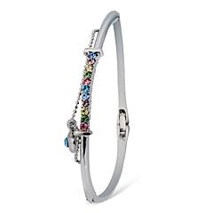 preiswerte Armbänder-Damen Kubikzirkonia Armreife - Zirkon, versilbert Herz Modisch, Elegant Armbänder Silber Für Hochzeit / Party