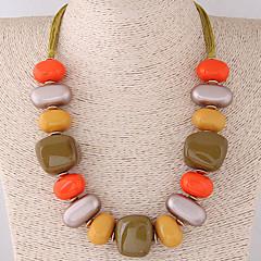 preiswerte Halsketten-Damen Statement Ketten - Harz Böhmische, Ethnisch, Boho Kaffee, Rot, Dunkelgrün Modische Halsketten Für Party