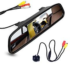 お買い得  カーアクセサリー-ziqiao 4.3インチデジタルtft液晶ミラーモニターと車のリアビューカメラのカラーナイトビジョン