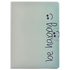 Недорогие Чехлы и кейсы для Galaxy Tab 4 10.1-Кейс для Назначение SSamsung Galaxy Tab 4 10.1 Бумажник для карт / со стендом / Флип Чехол Слова / выражения Твердый Кожа PU для Tab 4 10.1