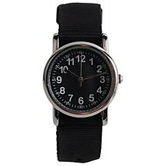 preiswerte Damenuhren-Quartz Armbanduhr Japanisch Wasserdicht Armbanduhren für den Alltag Nylon Band Freizeit Modisch Schwarz Rosa Pool-Blau