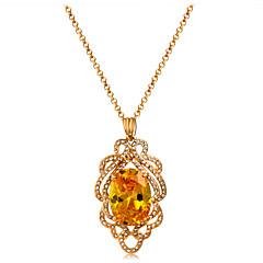 preiswerte Halsketten-Damen Kristall / Kubikzirkonia Anhängerketten - Roségold, Krystall, Zirkon Klassisch, Modisch Gold Modische Halsketten 1 Für Party, Formal