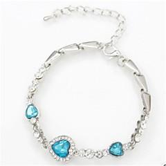 preiswerte Armbänder-Damen Geometrisch Ketten- & Glieder-Armbänder - Krystall Herz Modisch Armbänder Blau / Rosa / Hellblau Für Alltag / Ausgehen