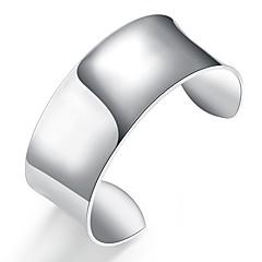 Недорогие Браслеты-Муж. Браслет цельное кольцо - Серебрянное покрытие Мода Браслеты Серебряный Назначение Подарок Повседневные