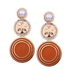 preiswerte Ohrringe-Damen Lang Tropfen-Ohrringe - Perle überdimensional Orange / Rot / Blau Für Alltag / Verabredung
