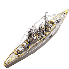 abordables Niños Puzzles-Puzzles 3D Puzzles de Metal Militar Barco de Guerra Acero inoxidable Metal 1pcs Bote Niños Adulto Regalo