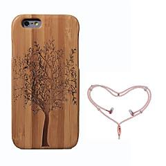 Недорогие Кейсы для iPhone-Кейс для Назначение Apple iPhone 6 Защита от удара Кейс на заднюю панель дерево Твердый Бамбук для iPhone 6s iPhone 6