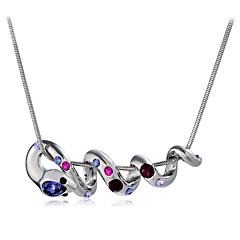 preiswerte Halsketten-Damen Kristall / Kubikzirkonia Anhängerketten - Krystall, Zirkon, versilbert Schlange, Tier Modisch Silber Modische Halsketten 1 Für Hochzeit, Party
