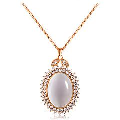 preiswerte Halsketten-Damen Opal / Kubikzirkonia Anhängerketten - Zirkon, vergoldet, Opal Tropfen Klassisch, Modisch Gold Modische Halsketten 1 Für Hochzeit, Party