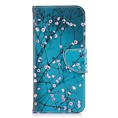 olcso Huawei tokok-Case Kompatibilitás Huawei Honor 8 Honor 7X Kártyatartó Pénztárca Állvánnyal Flip Mágneses Héjtok Virág Kemény PU bőr mert Honor 8 Honor